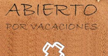 227 Abierto en vacaciones 3x3 cm