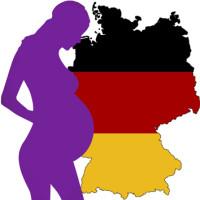 250 Maternidad en Alemania 3x3 cm