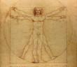261 Hombre de Vitruvio 3x3 cm