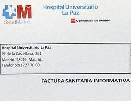 Factura sanitaria