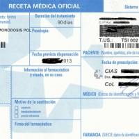 118 Receta Médica 3x3 cm