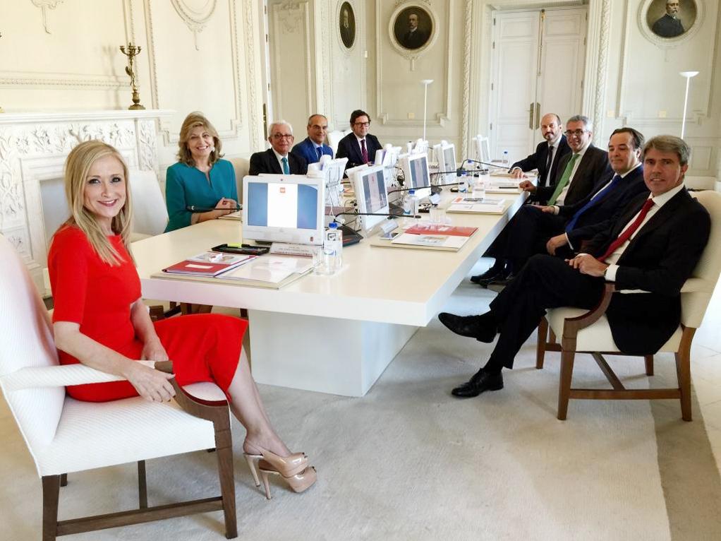 Primera reunión del nuevo Consejo de Gobierno de la Comunidad de Madrid el 27-06-2015