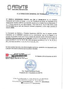 DESCONVOCATORIA HUELGA DEL H. VIRGEN DE LA TORRE PARA D. G. DE TRABAJO