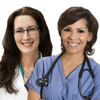 156 Medica y enfermera 3x3 cm