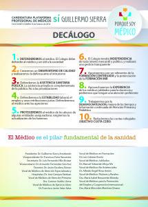 Decalogo Plataforma Guillermo Sierra