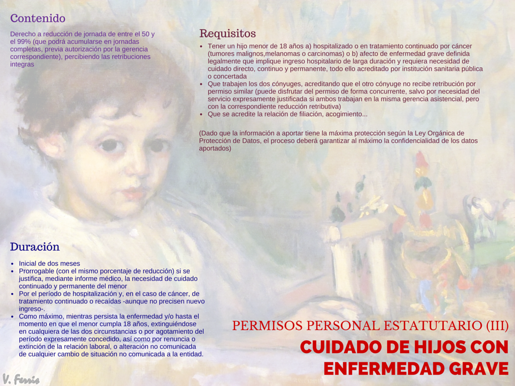 Infografia permiso hijos enfermedad grave