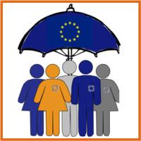 166 Paraguas UE 3x3 cm