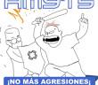 265 No más agresiones 3x3 cm