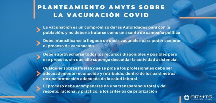 Planteamiento de AMYTS sobre la vacunación contra la Covid-19
